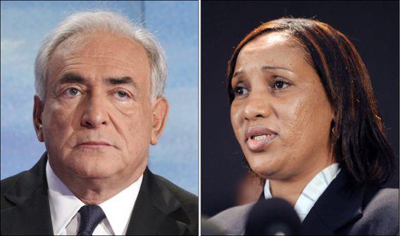 Dominique Strauss-Kahn (links) dient een klacht in tegen Nafissatou Dialo (rechts), die hem vorig jaar van seksueel misbruik beschuldigde. Zijn politieke carrière kwam daardoor tot stilstand.