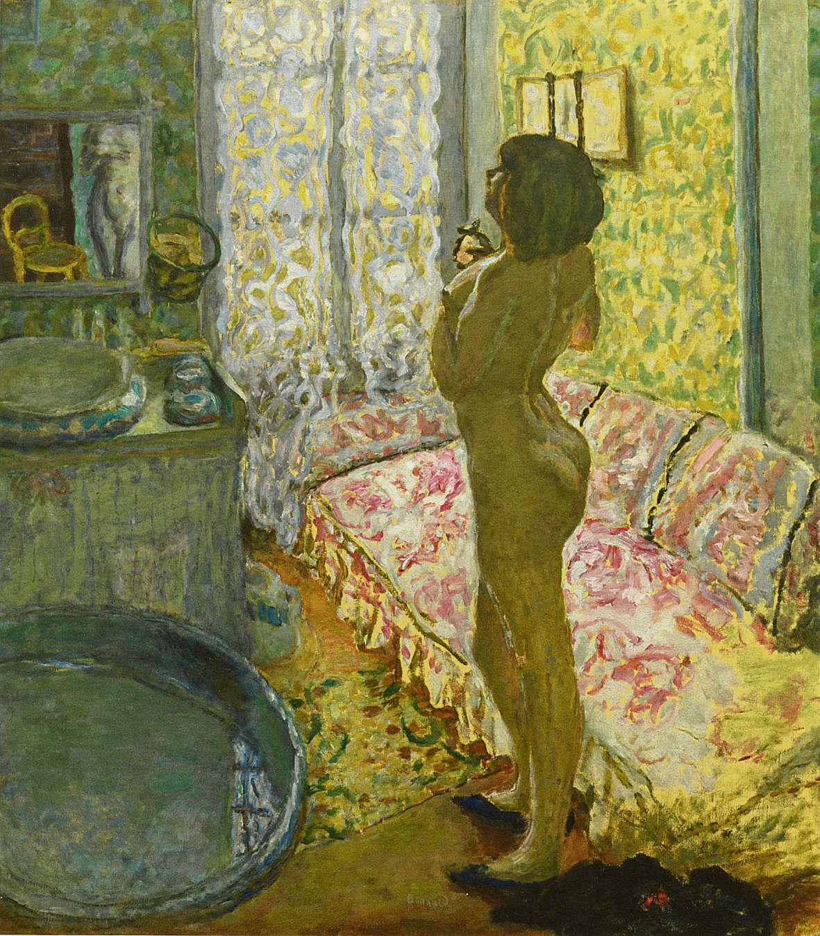 Pierre Bonnard: Le Cabinet de toilette au canapé rose, 1908