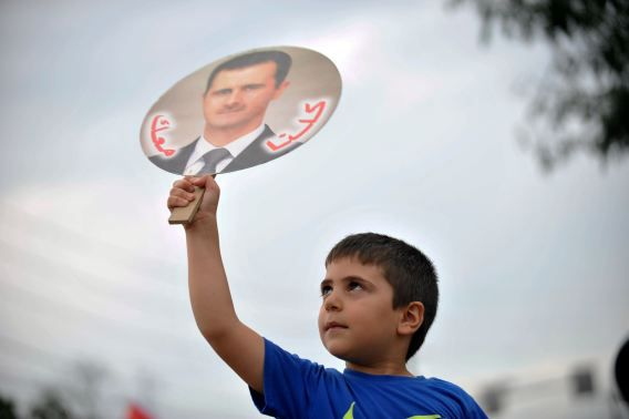 Syriërs protesteren in Amerika al dagen tegen Amerikaans ingrijpen in hun land.