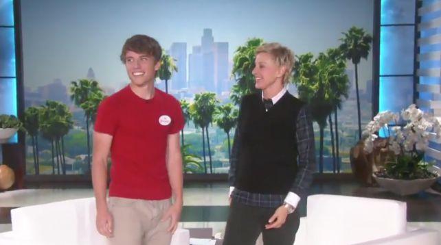 Alex zat begin november in de tv show van Ellen DeGeneres.