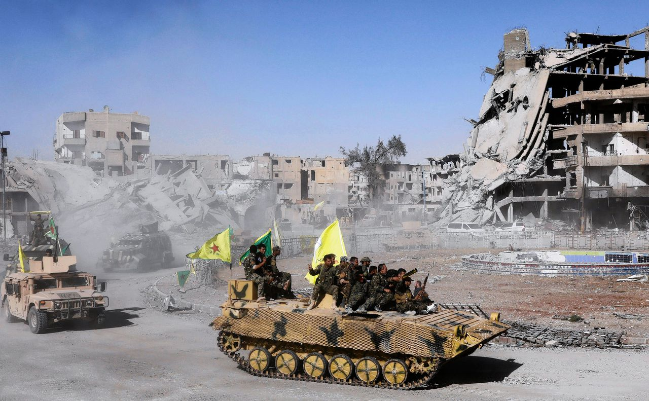 Syrian Democratic Forces (SDF) vieren overwinning in Raqqa