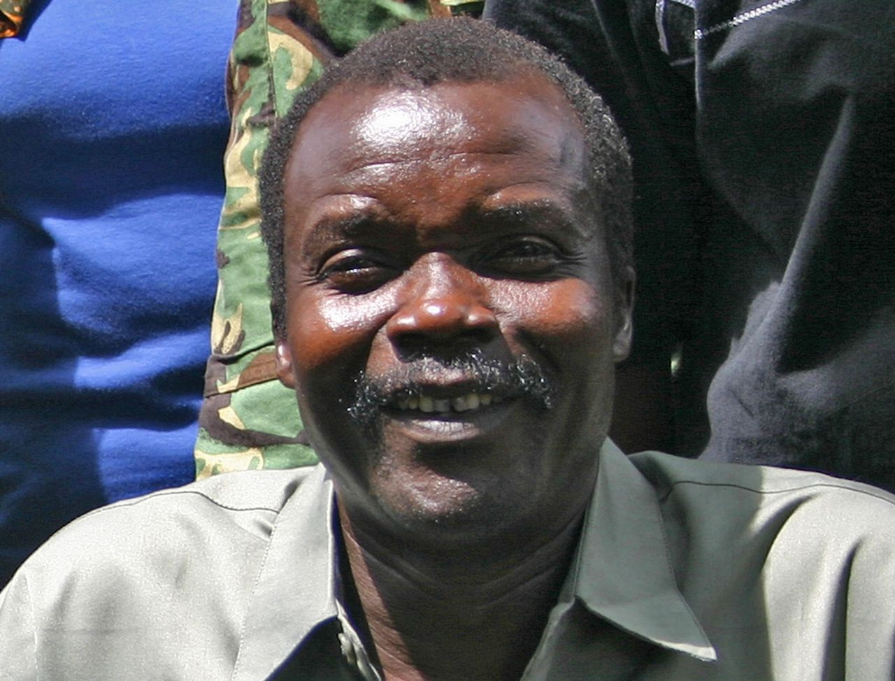 Lord's Resistance Army (LRA) leader Major General Joseph Kony, is seen in an exclusive image at peace negotiations in Ri-Kwangba, southern Sudan November 30, 2008. The U.S. State Department said on Wednesday it will offer a reward of up to $5 million for information leading to the arrest, transfer or conviction fugitive warlord Joseph Kony and some of his top aides. REUTERS/Africa24 Media (SUDAN - Tags: POLITICS CIVIL UNREST CONFLICT) NO ONLINE USE. NOT FOR SALE FOR INTERNET DISPLAY. TV OUT. NOT FOR SALE TO TELEVISION BROADCASTERS. FOR EDITORIAL USE ONLY. NOT FOR SALE FOR MARKETING OR ADVERTISING CAMPAIGNS