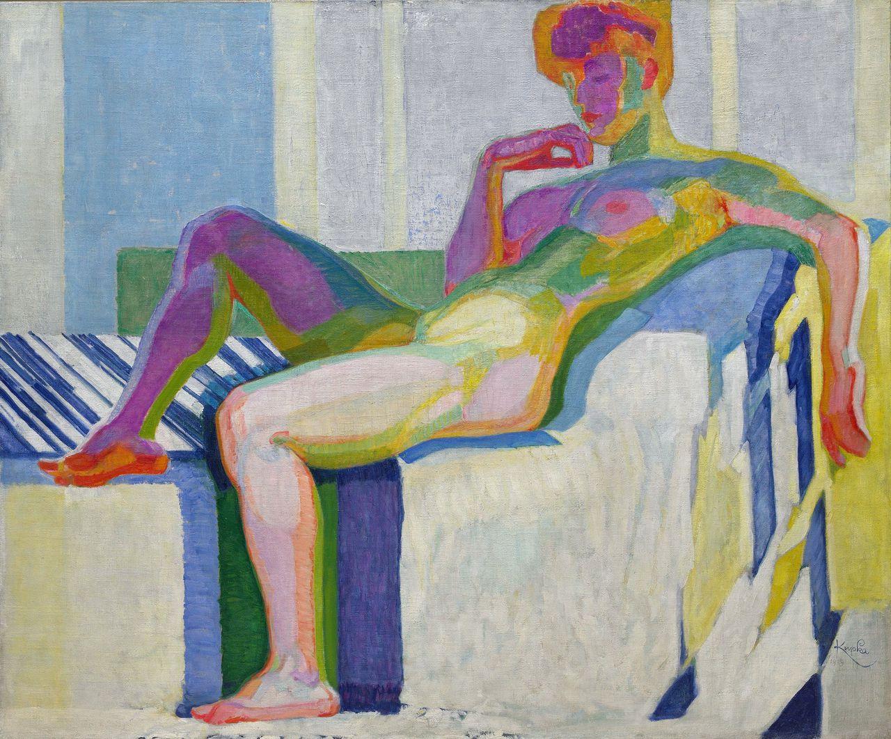 Frantisek Kupka, Grand nu. Plans par couleurs, 1909-1910. Olieverf op doek, 150,2×180,7 cm.