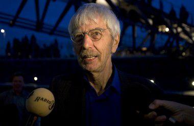 Dirigent Reinbert de Leeuw in 2008 in Amsterdam.
