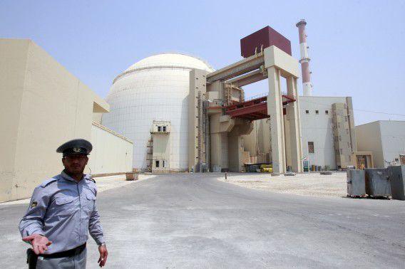De kernreactor Bushehr, 1200 kilometer ten zuiden van Teheran.