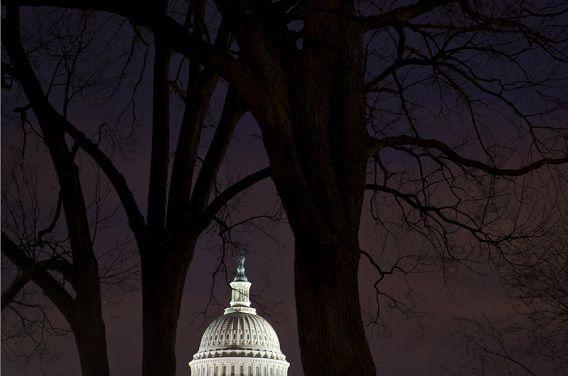 In het Capitool in Washington, waar het Amerikaanse Congres zetelt, kwamen de politieke leiders niet tot een akkoord om de automatische bezuinigingen af te wenden.