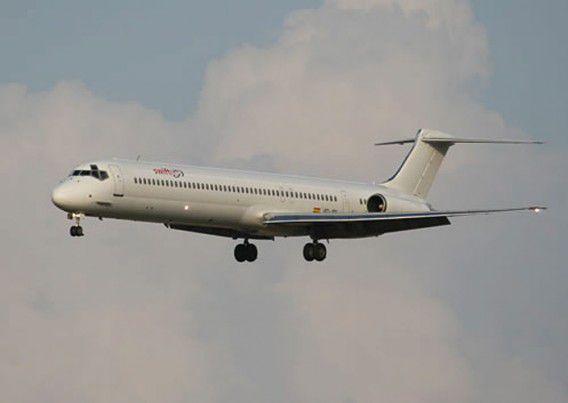 Een MD-83 van het Spaanse Swiftair, het type toestel waarmee Air Algérie de vlucht uitvoerde.