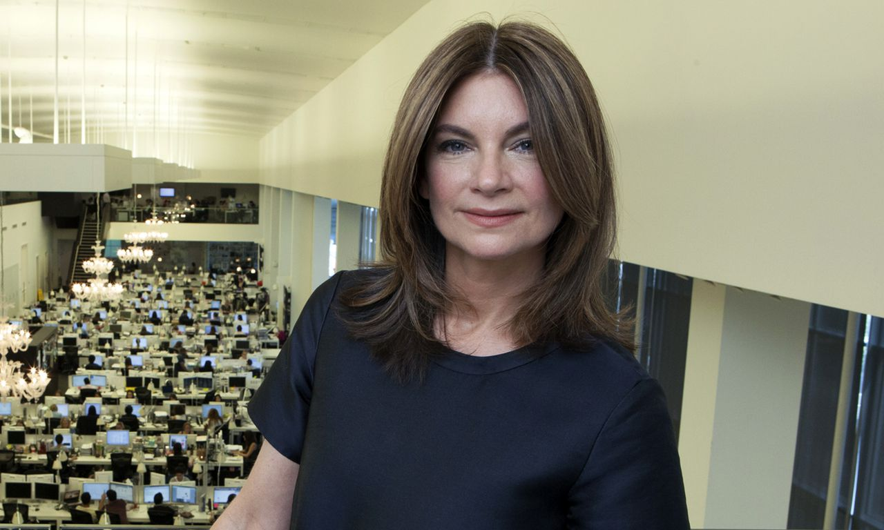 Natalie Massenet, founder and executive chair over online fashion sites Net-a-Porter, Outnet and Mr. Porter, at offices in London, July 8, 2013. While publications like Glamour, Vogue and Harper's Bazaar are trying to figure out new media, in January the hyper-wired Ms. Massenet is expected to oversee the counterintuitive introduction of the fashion magazine Porter, to be sold on newsstands. (Jonathan Player/The New York Times)-- PHOTO MOVED IN ADVANCE AND NOT FOR USE - ONLINE OR IN PRINT - BEFORE DEC. 22, 2013.