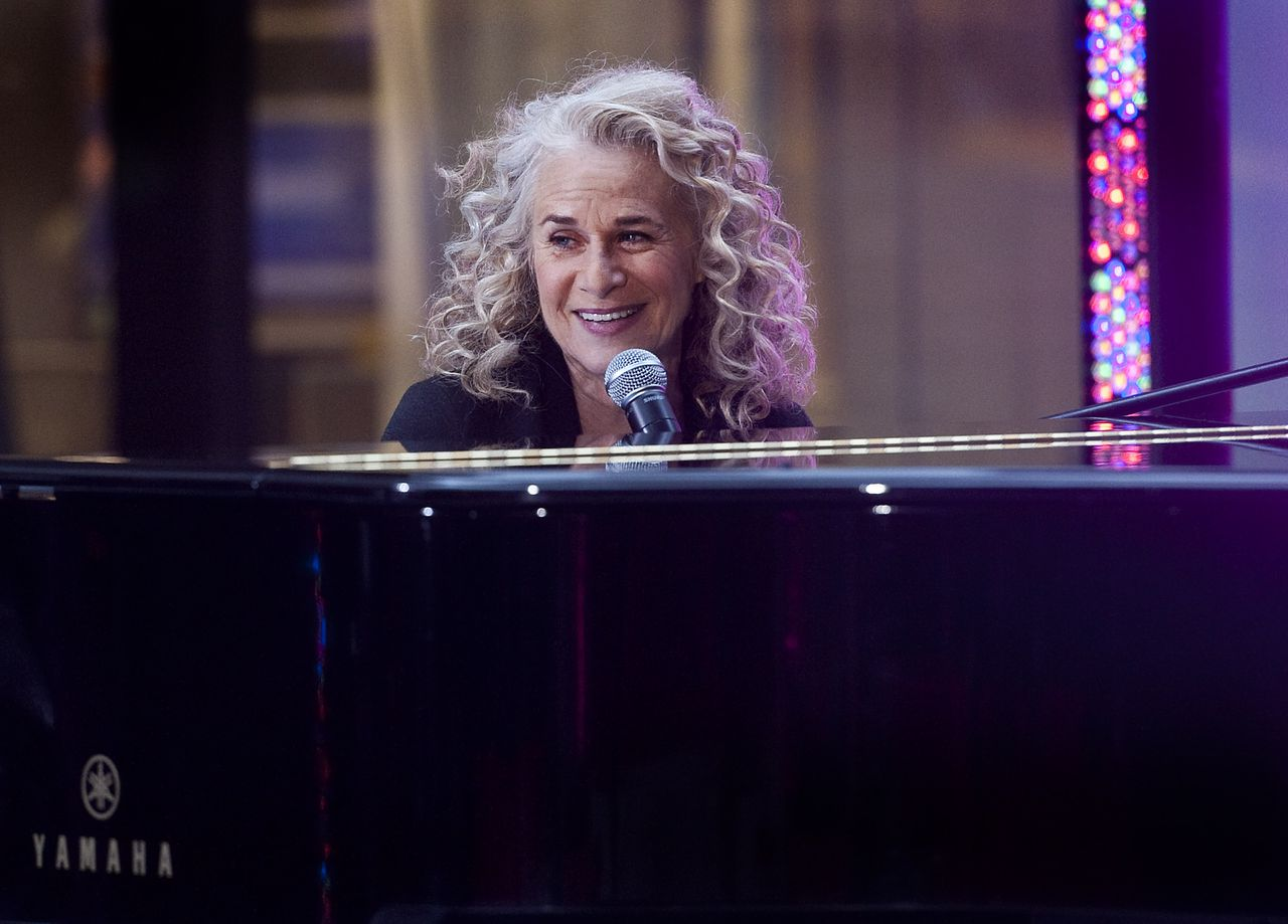 Carole King on stage for The NBC Today Show Concert with Carole King, Rockefeller Plaza, New York, NY November 22, 2011. Photo By: Lee/Everett Collection For usage credit please use; Lee/Everett Collection