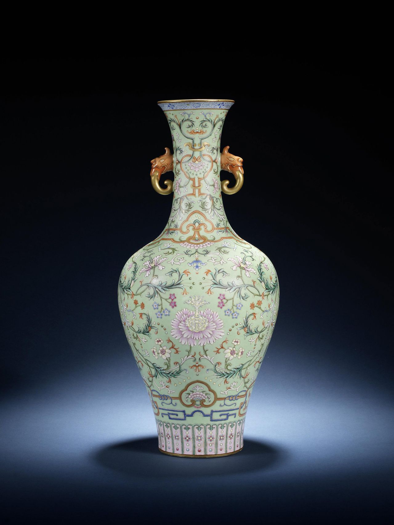 This photo issued by Bonhams in London, shows a detail of an Imperial Chinese vase thought to have been kept at the royal palace in Beijing's Forbidden City, which sold for more than 9 million pounds sterling at auction in Bonhams auction house in London Thursday Nov. 10, 2011. The buyer is understood to be from the Chinese mainland. (AP Photo / Bonhams) EDITORIAL USE ONLY