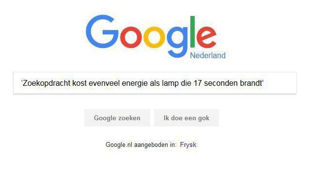 Het zoekscherm van Google.