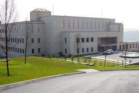 Het consulaat van de VS in Istanbul.