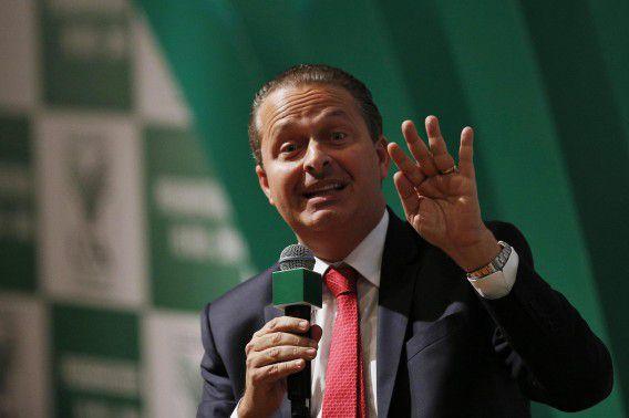 Eduardo Campos eerder deze maand op een bijeenkomst in Brasilia.