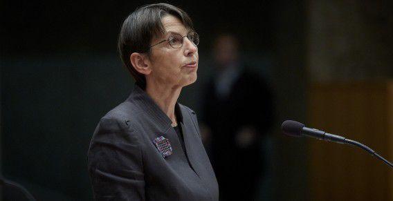 Staatssecretaris Jetta Klijnsma van Sociale Zaken en Werkgelegenheid tijdens een vragenuurtje eerder deze maand.