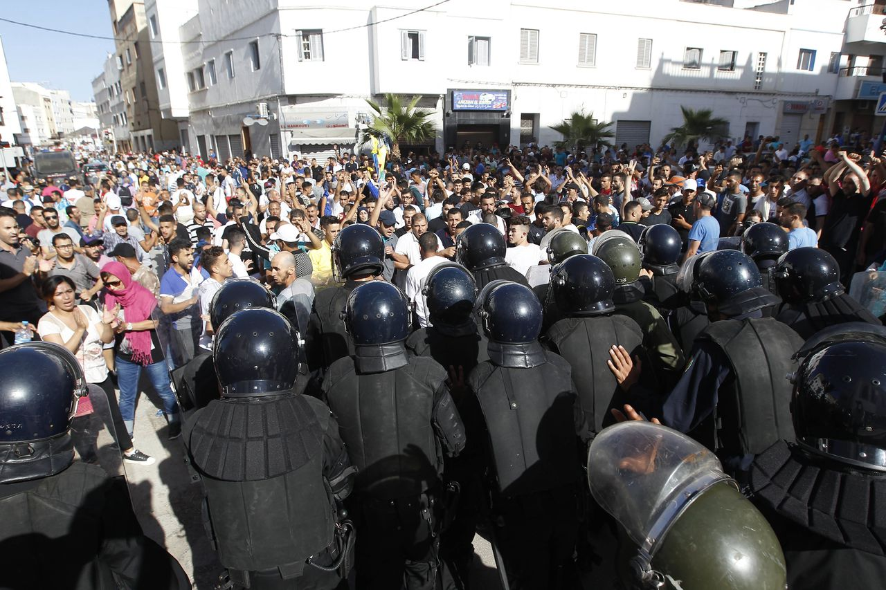 Demonstranten in Al Hoceima.