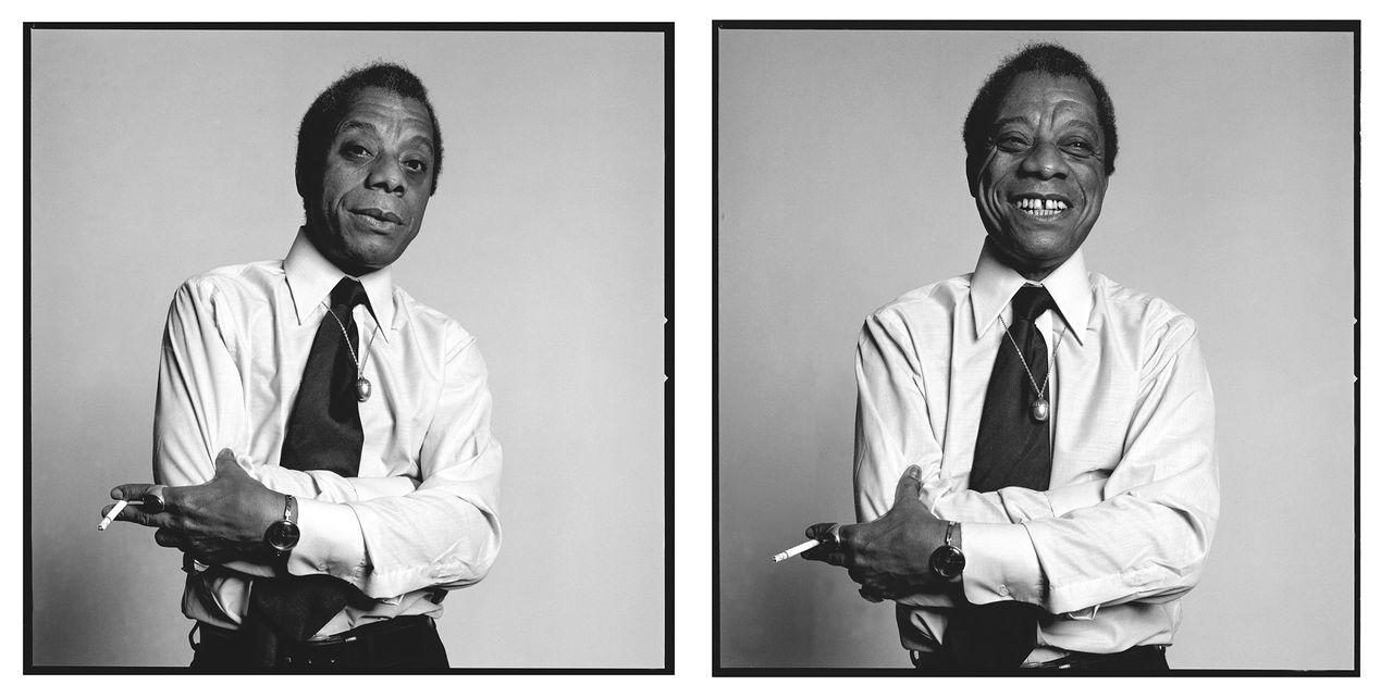 James Baldwin in New York, 1975.