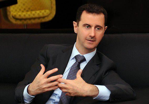 President Bashar al-Assad tijdens een eerder interview.