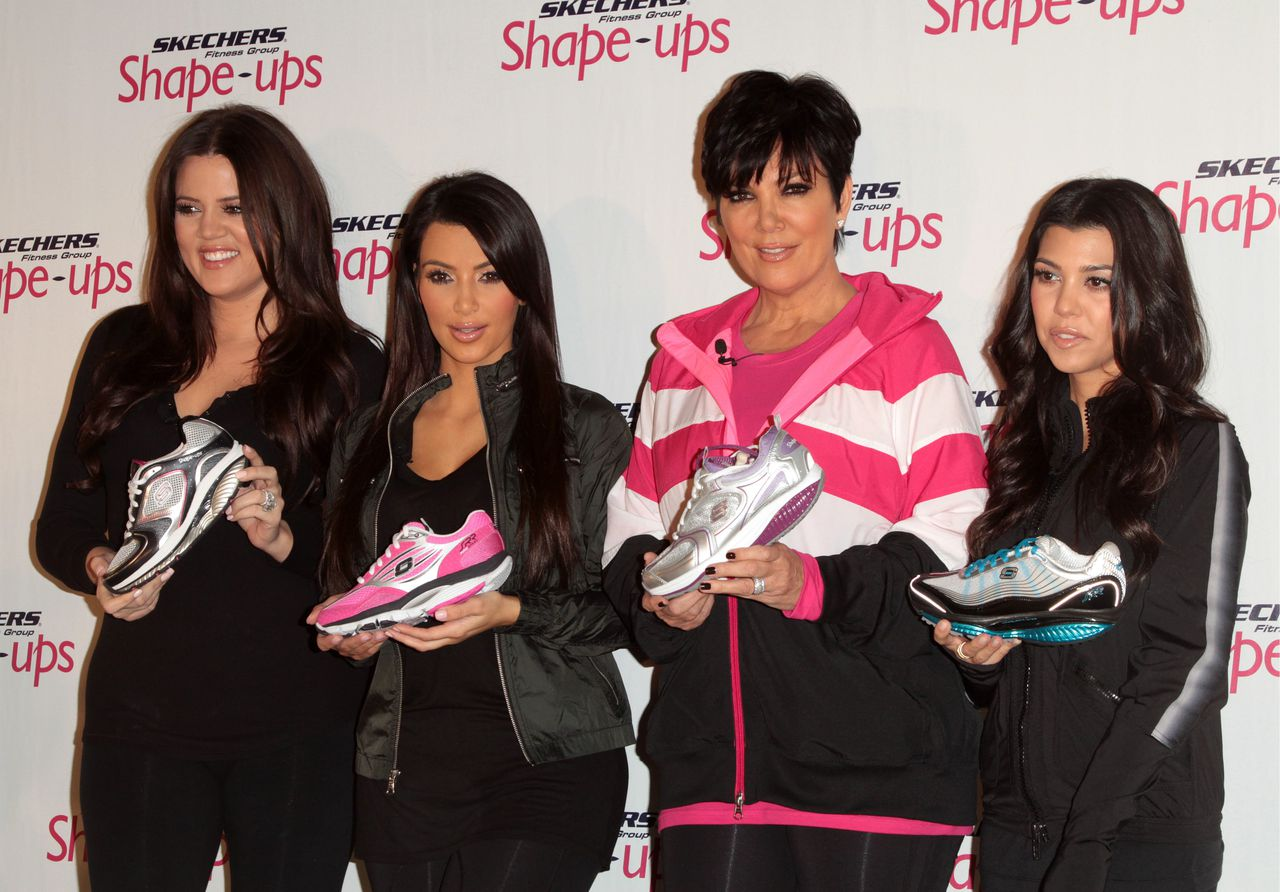 Khole Kardashian, Kourtney Kardashian, Kim Kardashian, Kris Jenner at press conference; Skechers to Announce Global Shape-Ups Marketing Partnership with Kim Kardashian and Kris Jenner held at The Regent Beverly Wilshire Hotel in Beverly Hills, California on November 22nd, 2010. © Orken / Starlitepics