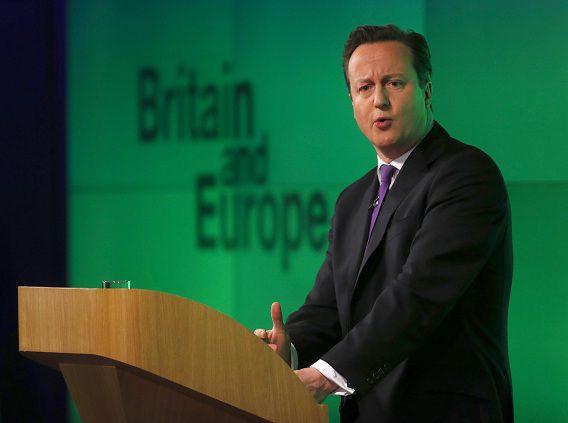 Premier David Cameron geeft zijn langverwachte speech over de EU. Als hij de verkiezingen wint in 2015 zal hij een referendum uitschrijven onder de Britse bevolking over de vraag of Groot-Brittannië in de EU moet blijven.
