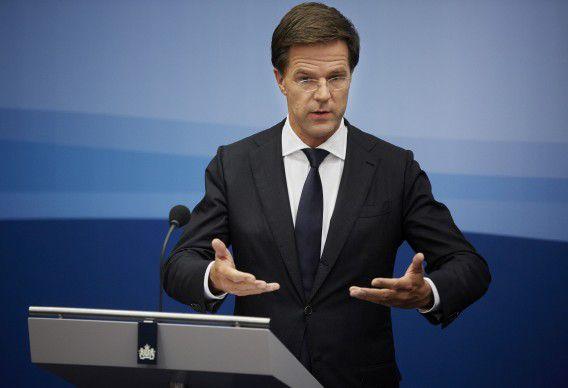 Premier Mark Rutte na de ministerraad vorige week