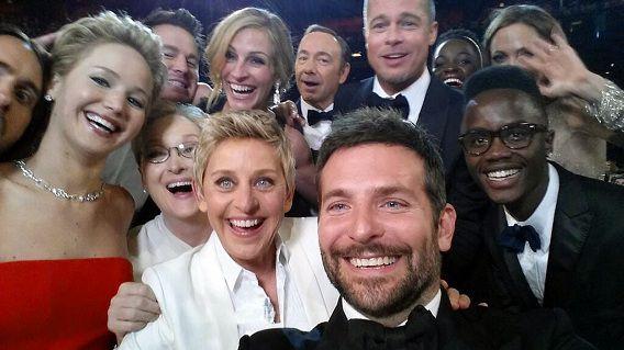 Jared Leto, Jennifer Lawrence, Meryl Streep, Ellen DeGeneres, Bradley Cooper, Peter Nyong'o Jr.,Channing Tatum, Julia Roberts, Kevin Spacey, Brad Pitt, Lupita Nyong'o en Angelina Jolie.