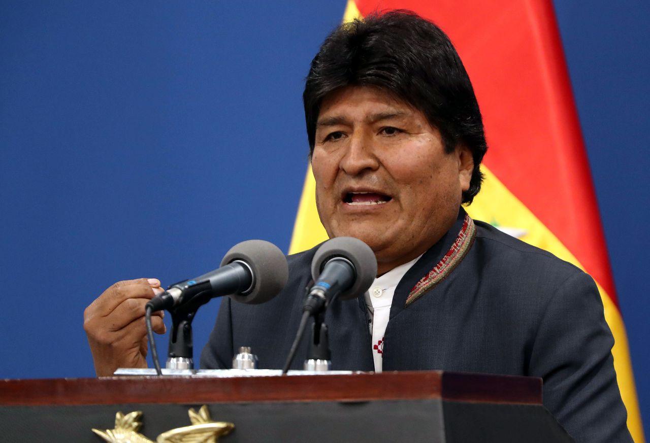 Evo Morales roept in een toespraak in La Paz op 31 oktober zijn aanhang en de oppositie op tot kalmte.
