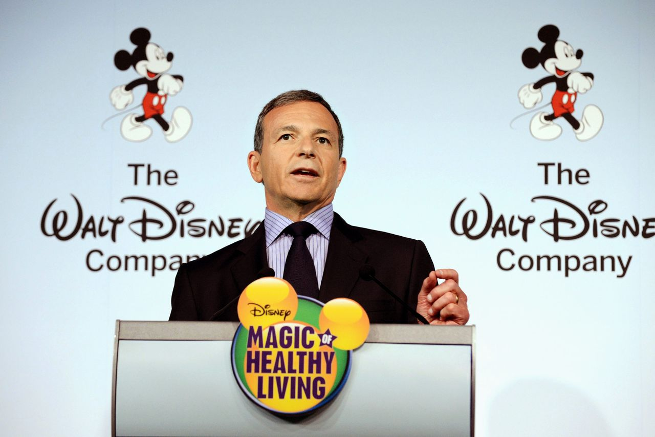 Robert, 'Bob', Iger in 2012. Hij is al sinds 2005 topman van The Walt Disney Company.
