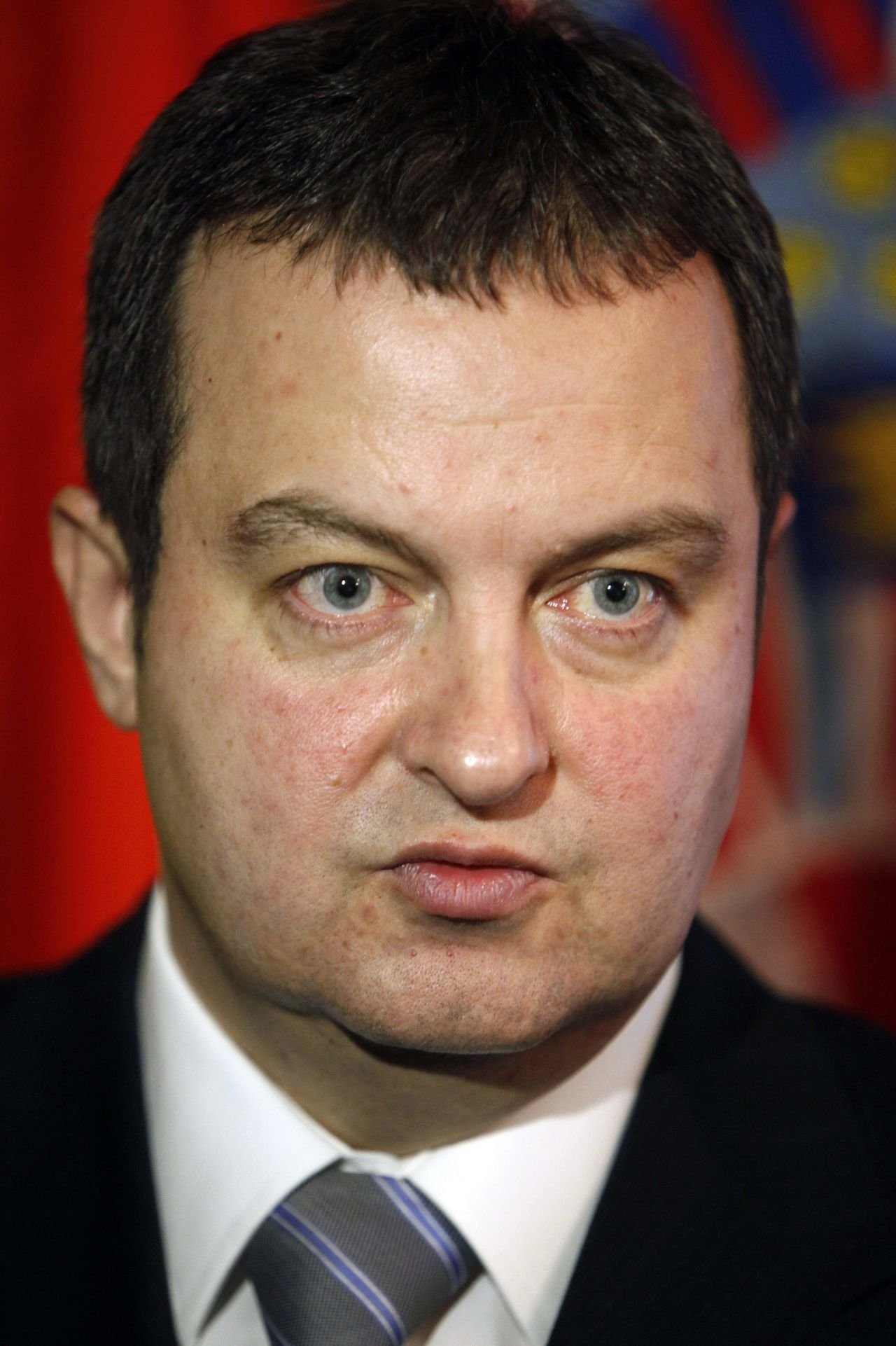 Serbia's Interior Minister Ivica Dacic speaks during an interview with Reuters after a regional conference in Zagreb in this February 12, 2010 file photo. Serbian Socialist leader Dacic received a mandate on June 28, 2012 to form a coalition government with President Tomislav Nikolic's nationalist Progressive party, a move that may raise concerns about Belgrade's bid for European Union membership. REUTERS/Nikola Solic/Files (CROATIA - Tags: HEADSHOT POLITICS)
