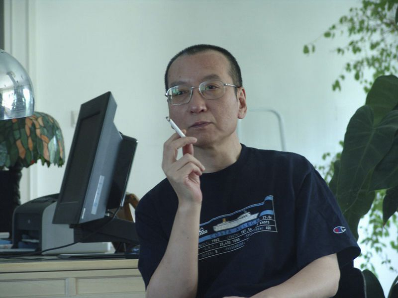 Chinese dissident Liu Xiaobo smokes a cigarette in this undated photo released by his family. Jailed Chinese pro-democracy activist Liu won the Nobel Peace Prize on October 8, 2010, an announcement that Beijing had anticipated and bitterly criticised. REUTERS/Handout (CHINA - Tags: POLITICS) FOR EDITORIAL USE ONLY. NOT FOR SALE FOR MARKETING OR ADVERTISING CAMPAIGNS. THIS IMAGE HAS BEEN SUPPLIED BY A THIRD PARTY. IT IS DISTRIBUTED, EXACTLY AS RECEIVED BY REUTERS, AS A SERVICE TO CLIENTS