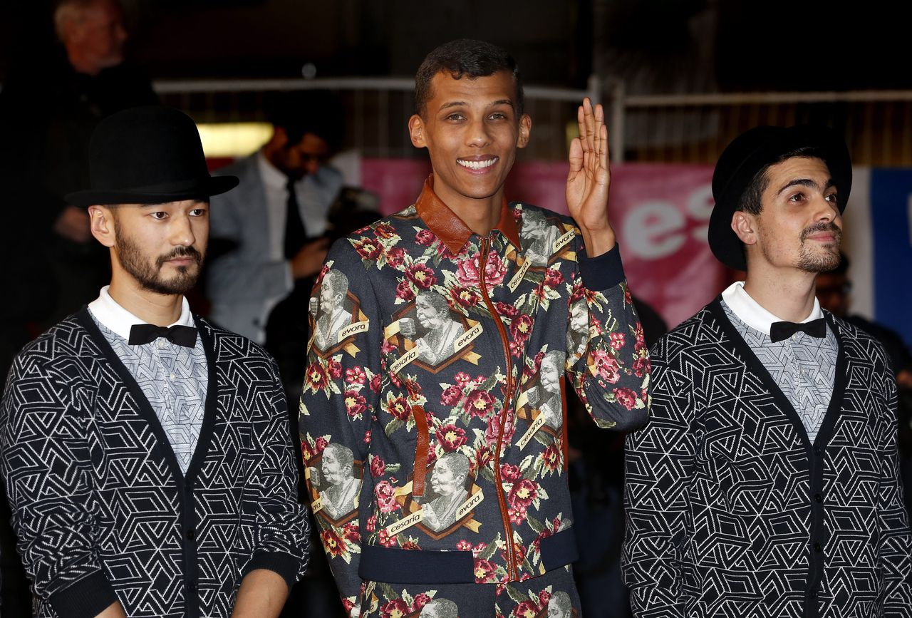 Stromae bij de NRJ Music Awards in Cannes.