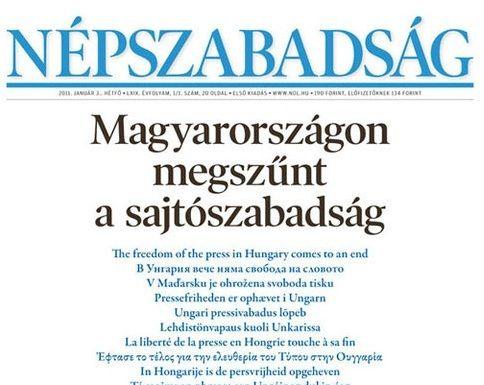 Népszabadság op 3 januari 2011