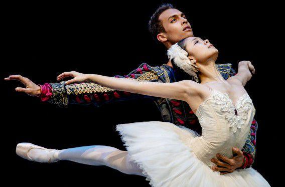 Generale repetitie van de debuutvoorstelling van de Junior Company van het Nationale Ballet, in theater De Vest vorige maand.