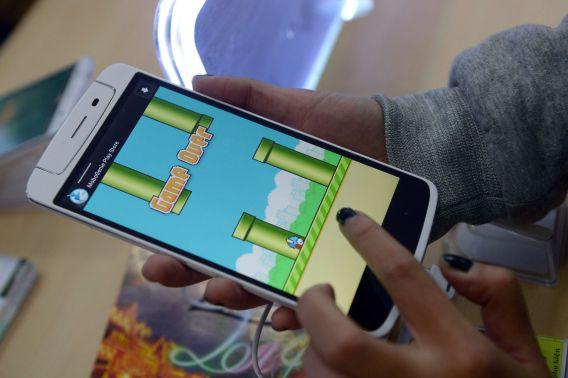 Het spelletje op een Androidtelefoon.