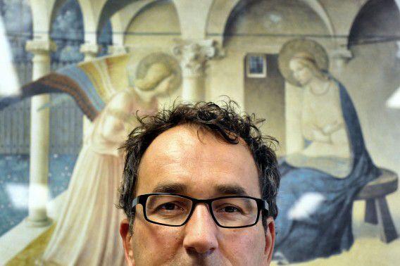 Diederik Stapel in zijn werkkamer in de Universiteit van Tilburg. Foto ANP / Jack Tummers