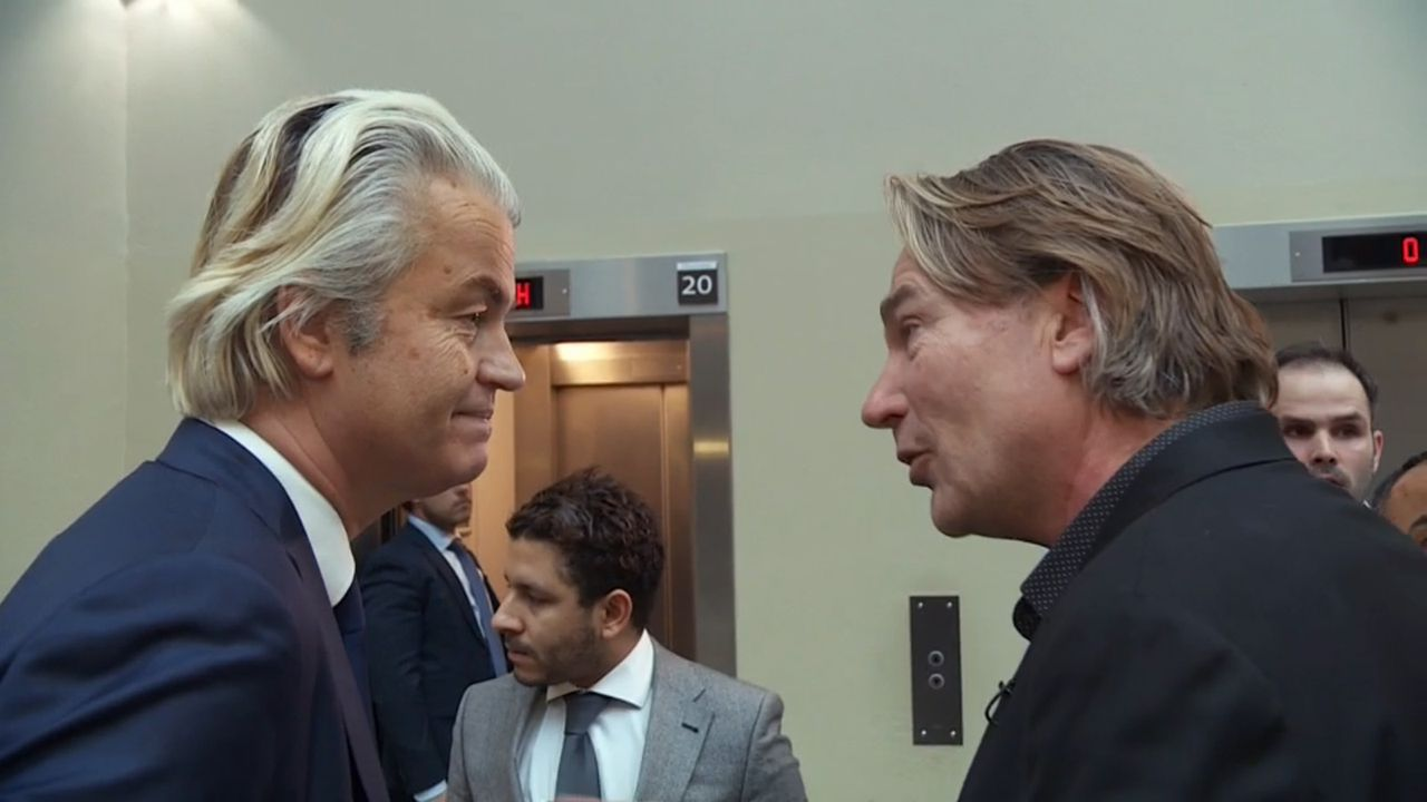 Geert Wilders en Peter Kee in 'Check-Point' (Canvas).