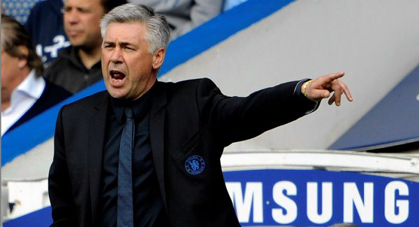 Caption: Chelsea manager Carlo Ancelotti watches his team play against Newcastle United during their English Premier League soccer match at the Stamford Bridge Stadium, London, Sunday, May 15, 2011. (AP Photo/Tom Hevezi) NO INTERNET/MOBILE USAGE WITHOUT FOOTBALL ASSOCIATION PREMIER LEAGUE(FAPL)LICENCE. CALL +44 (0) 20 7864 9121 or EMAIL info@football-dataco.com FOR DETAILS