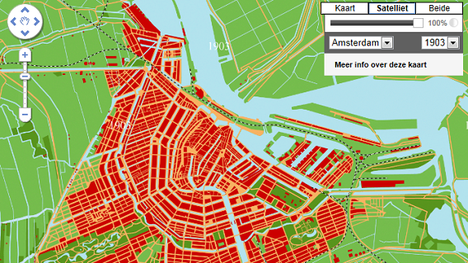 Amsterdam in 1903. Afbeelding: Maps+Motion