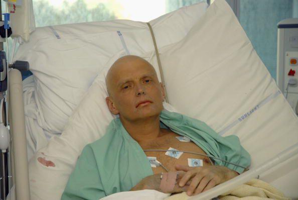 De vergiftigde ex-KGB agent Aleksander Litvinenko.