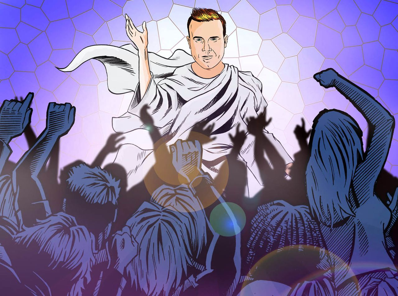 Programme Name: I'm in a...... - TX: 25/02/2012 - Episode: Boy Band (No. 1) - Embargoed for publication until: n/a - Picture Shows: Illustration Gary Barlow, *I'm In a Boy Band* - (C) BBC - Photographer: unknown