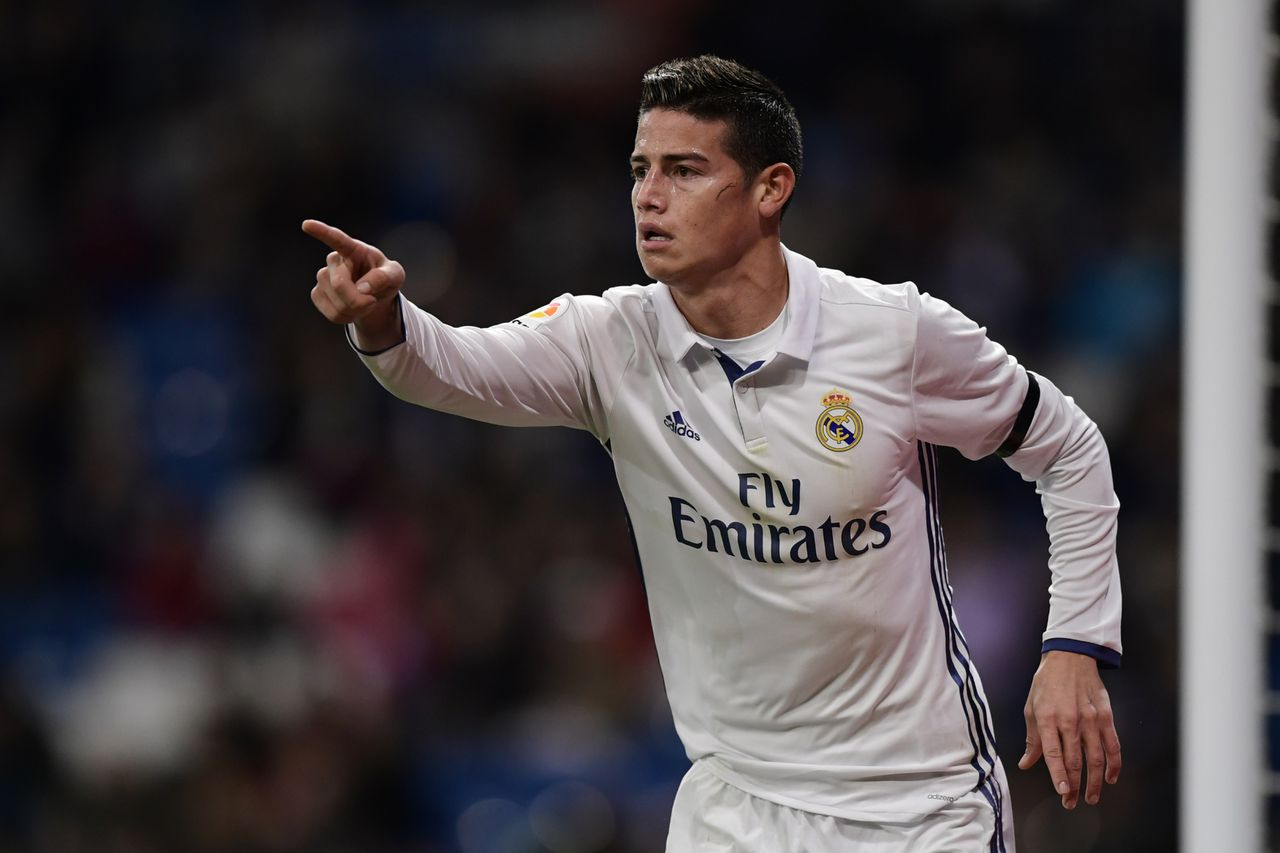 James Rodriguez afgelopen november in het shirt van Real Madrid.