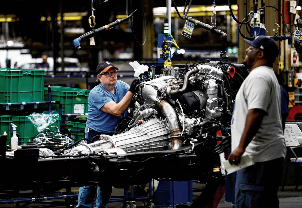 Fabriek in Michigan van autoproducent General Motors, die beademingsapparaten wil gaan maken.