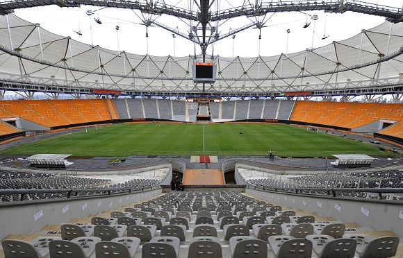 View of Ciudad de La Plata stadium in La Plata some 62 Km south of Buenos Aires on April 20, 2011 which will host the opening football match of the Copa America to be held from July 1 to 24 in Argentina. AFP PHOTO / Juan Mabromata
