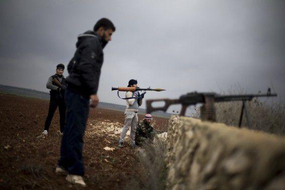 Archieffoto van rebellen van het Vrije Syrische Leger.
