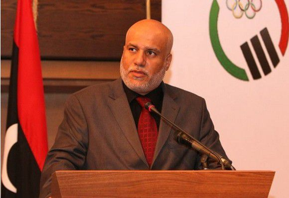 Nabil Elalem, de voorzitter van het Olympisch Comité van Libië.
