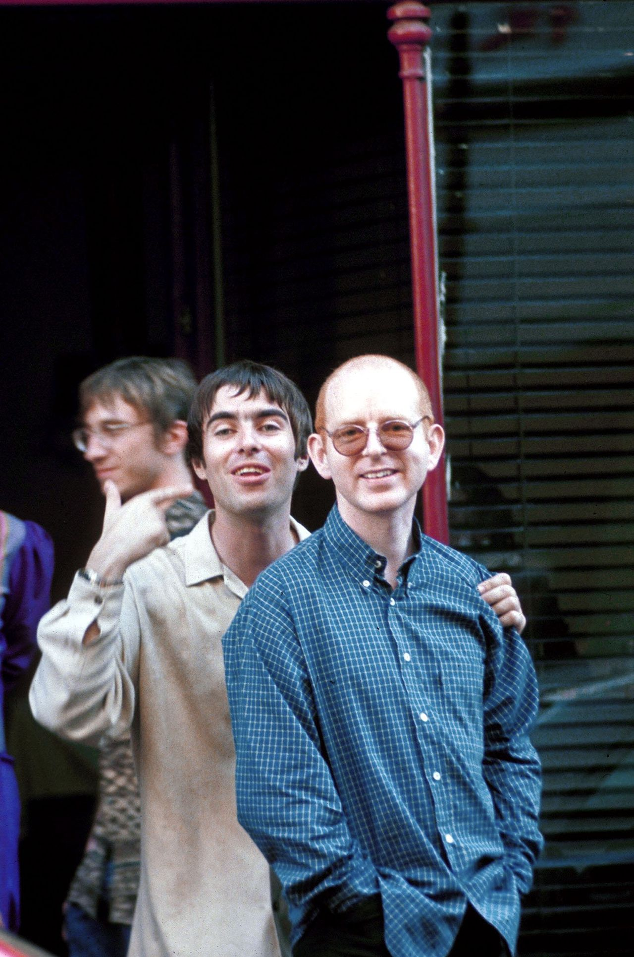 Mandatory Credit: BRIAN RASIC / Rex Features Ltd. LIAM GALLAGHER AND ALAN MCGEE , LONDON , BRITAIN - 1997 OASIS