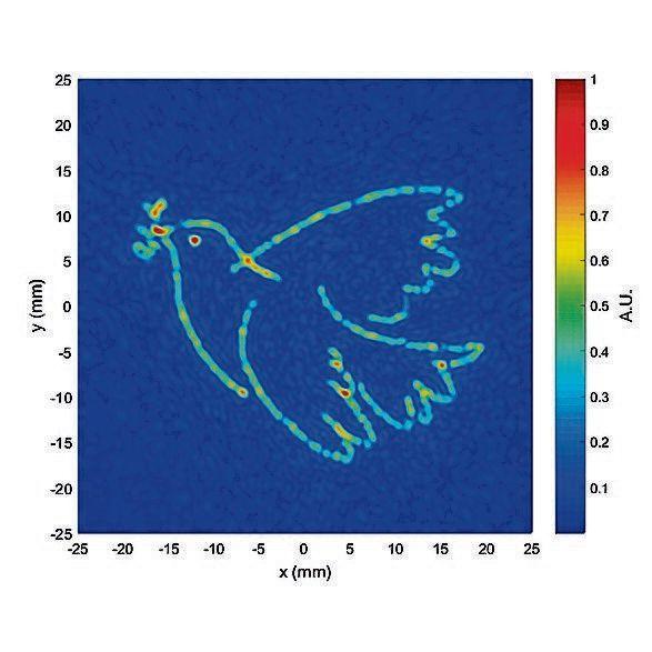 Via ultrageluid zijn microbolletjes gemanipuleerd om het