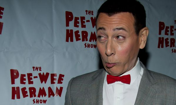"""Paul Reubens, in character as Pee-wee Herman, attends the after-party for the opening night of """"The Pee-wee Herman Show"""" on Broadway in New York, Thursday, Nov. 11, 2010. (AP Photo/Charles Sykes)"""