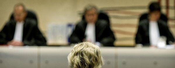 Geert Wilders vandaag in de rechtbank in Amsterdam.