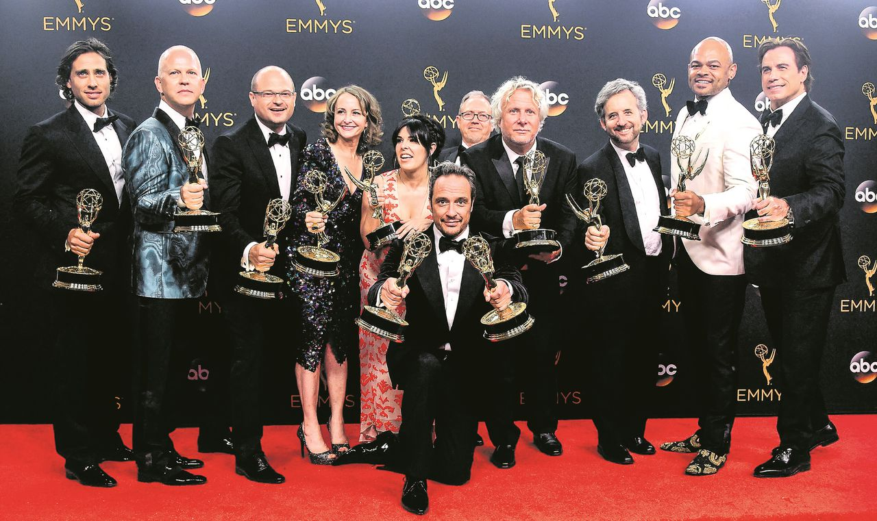Cast en crew van 'The People v. O. J. Simpson' (FX). De serie won vijf Emmy's.