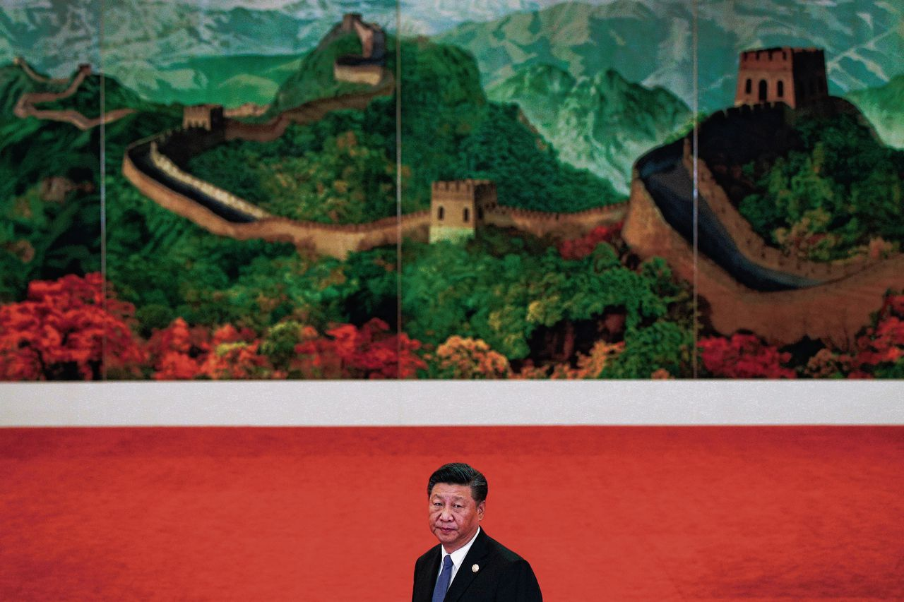 President Xi Jinping van China tijdens de top in Beijing.
